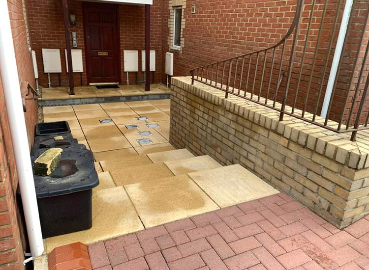 Patio cleaning in Trowbridge