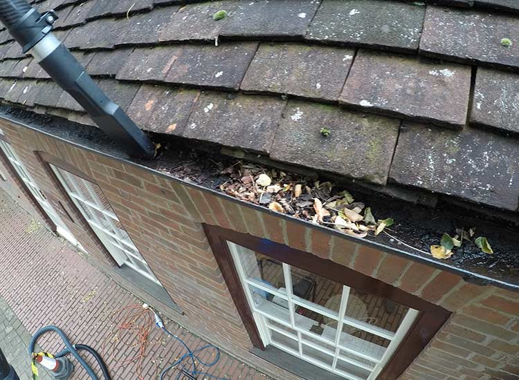 Gutter cleaning in Trowbridge