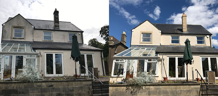 Render cleaning in Trowbridge, Bath, Chippenham, Swindon