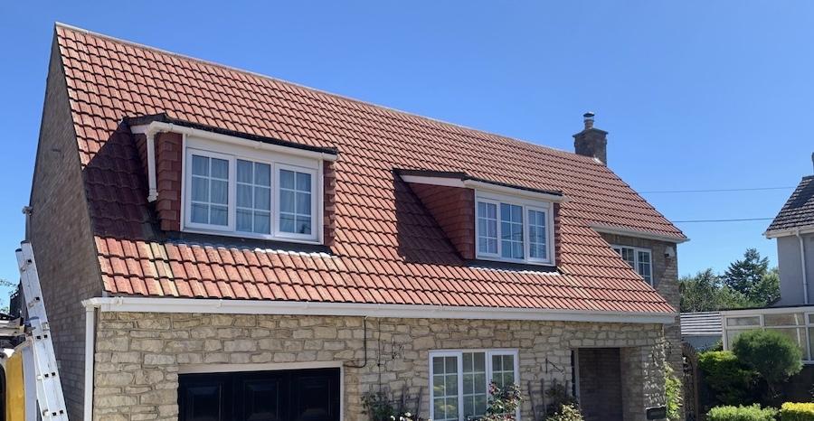 Roof cleaning in Trowbridge, Bath